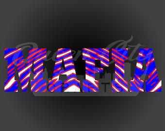 Buffalo NY Mafia Zebra Car Vinyl Decals Die Cut Stickers