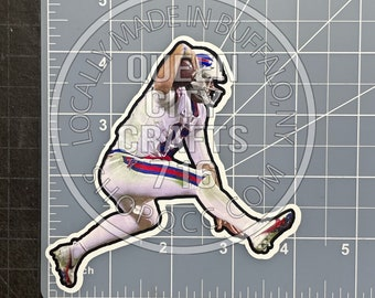 Buffalo Quarterback Leaping Decal
