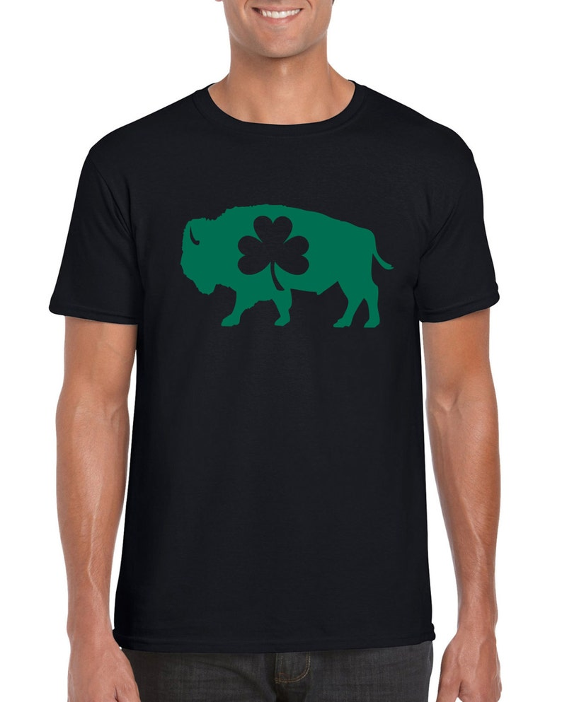 e619644f8 Buffalo Irish St. Patrick's Day Parade Bison T-Shirt | Etsy