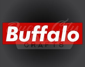 Buffalo Skateboard Style Decals Die Cut Stickers