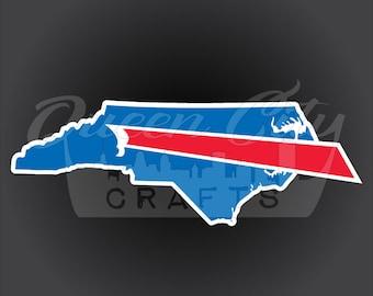 Buffalo Backers North Carolina Sticker Decal