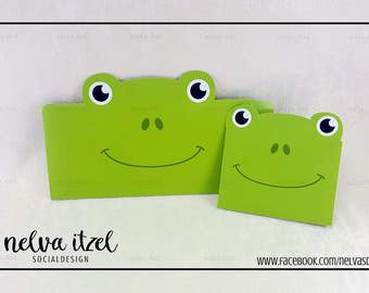 About frog, silhouette studio, cameo, frog envelope