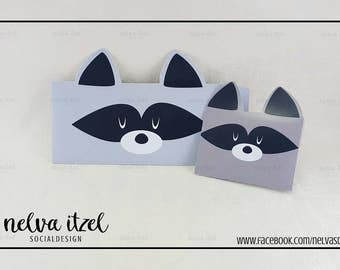 About raccoon, silhouette studio, cameo, raccoon envelope