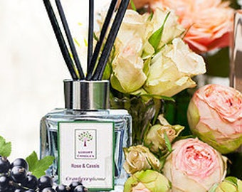 Rose & Cassis Luxury Reed Diffuser