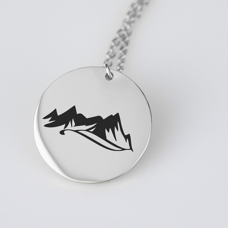 Mountain Necklace Gold or Silver 30th birthday gift for her Moving away gift Bridesmaid Gift Snowy Mountain Jewelry Nature lover gift
