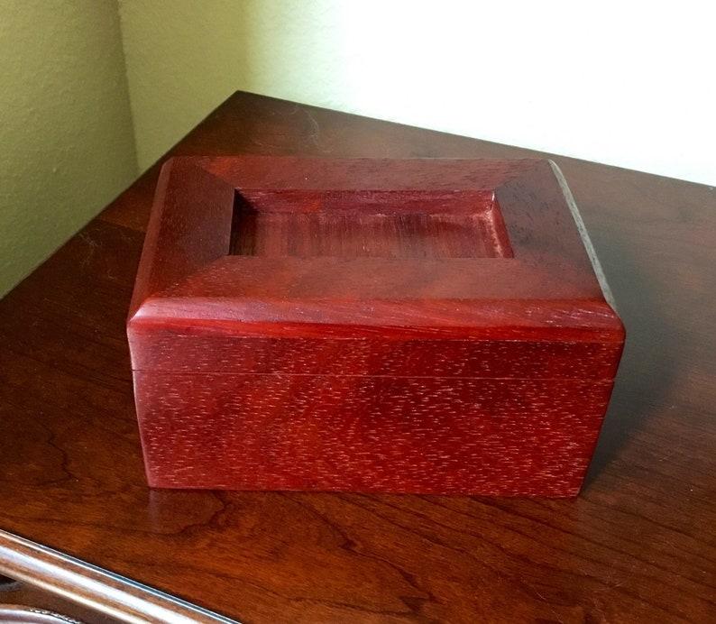 Wooden keepsake box African Padauk and Cherry