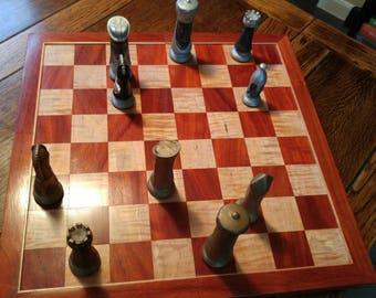 Chessboard - padauk and maple, 2-piece magnetic