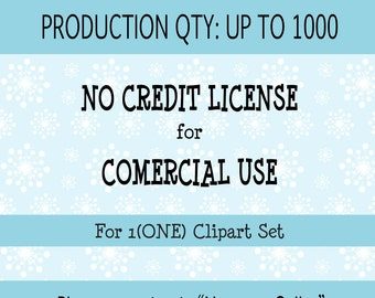 Extended License for Commercial Use For 1 (ONE) Clipart Set - Production Quantity of 1-1000