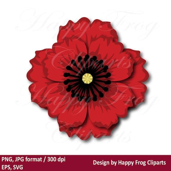 Poppy Flower HFC 029 Template Instant