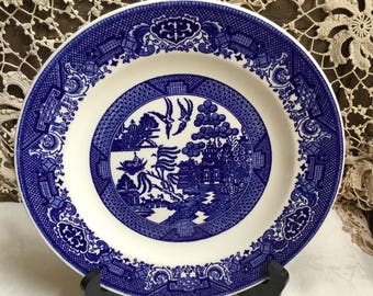 Willow Ware Royal China, USA/ 9 inch Luncheon Plate