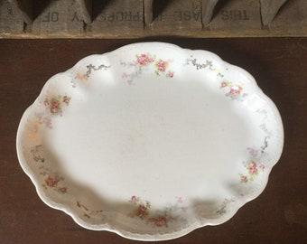 Vintage Homer Laughlin Pink Magnolia Serving Platter E1678