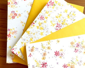 Bitty Buds Pack of 6 Watercolor Cards