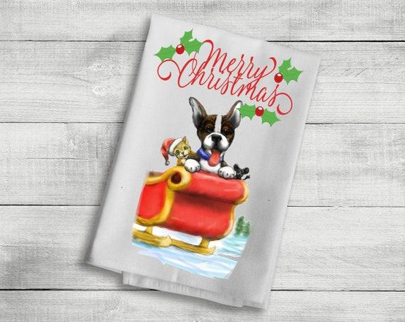 1 christmas kitchen dog towel design 3 funny dog towel | etsy