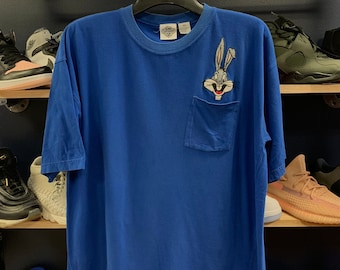 03b1a537b Vintage Bugs Bunny embroidered pocket t-shirt