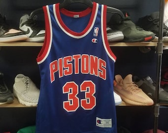 5a6643ca8d1 Vintage Champion Detroit Pistons Grant Hill Jersey size small
