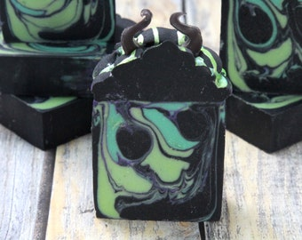 Maleficent Goat Milk Soap   Artisan Goat Milk Soap   Goat Milk Soap   Tea Scented Soap   Gift for Her   Organic Soap
