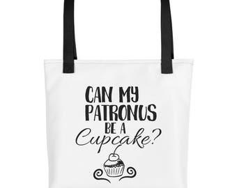 Can My Patronus Be a Cupcake Tote Bag   Harry Potter Tote Bag   Patronus Tote Bag   Harry Potter Gifts