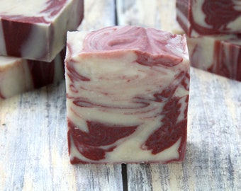 Pomegranate Goat Milk Soap   Artisan Goat Milk Soap   Goat Milk Soap   Pomegranate Scented Soap   Gift for Her   Organic Soap