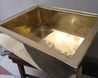 handmade hammered brass large farmhouse kitchen sink