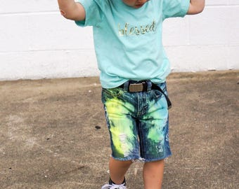 9513cf98e3e94 Boys Neon Shorts/Distressed boys shorts/neon shorts/kids ripped Jeans