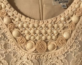 Vintage Lace and Pearl Dress