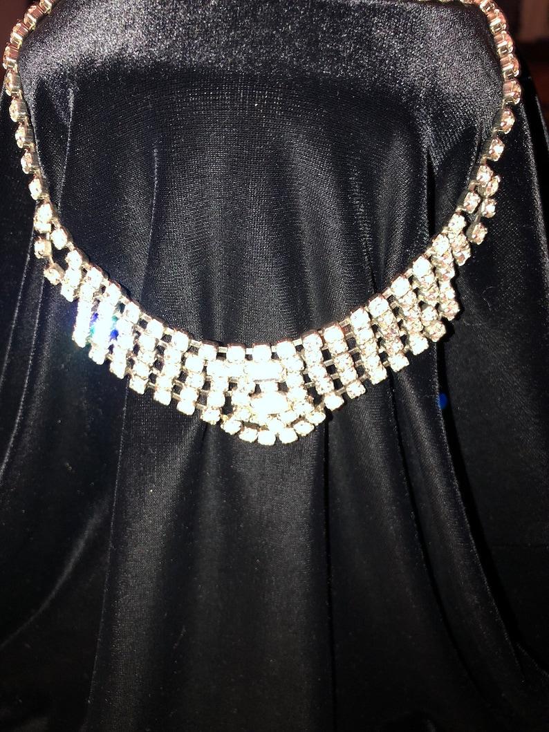 One of a kind 1927 Antique Rhinestone Fabulous Choker Necklace Beautiful  Pristine item