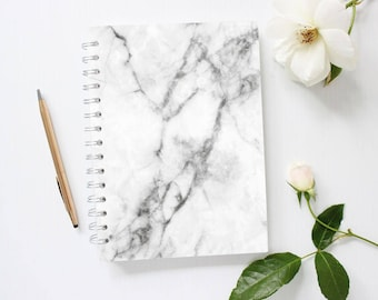 Marble notebook | Etsy