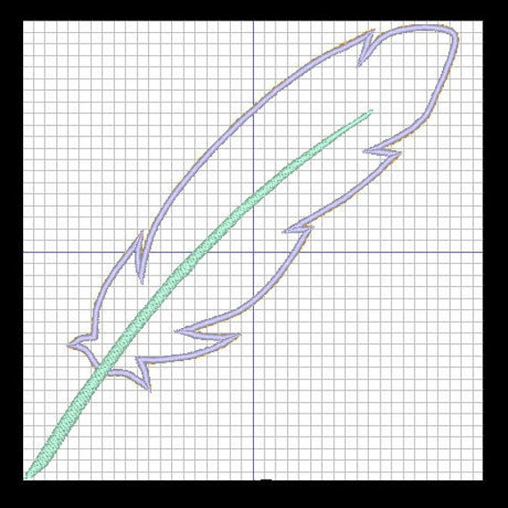Patron para bordar aplicado pluma | Etsy