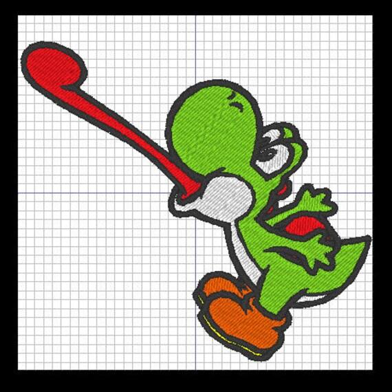 Patron para bordar YOSHI de Mario Bros. | Etsy