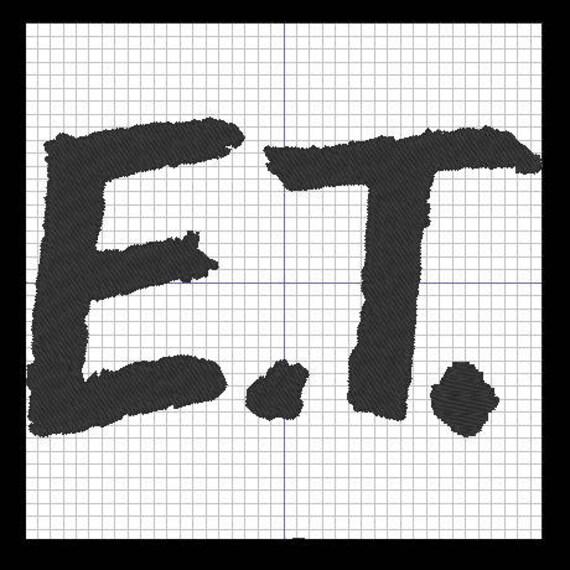 Patron para bordar E.T. el extraterrestre logotipo | Etsy