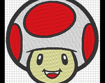 Embroidery design - TOAD from Mario Bros