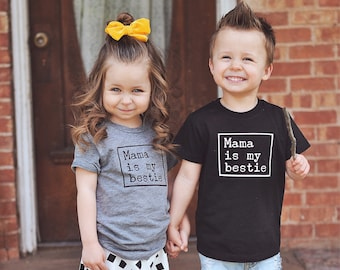 3707ee57 Kids Matching Shirts / Mommy my Bestie / Kids Best Friends Shirts / Mothers  Day Shirt / Bestie Shirts / BFF Shirts / Funny Toddler Shirts