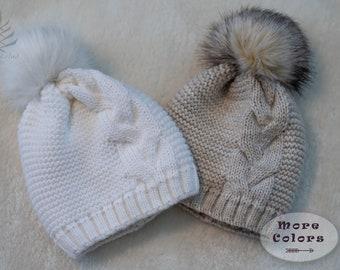 7aae595522f Knitted Hats - Schokolad