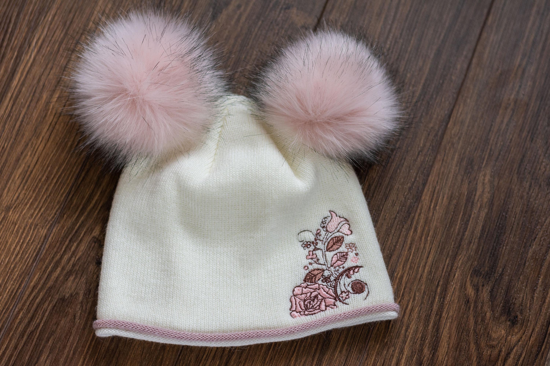 Double Fur Pom Pom Beanie 3f05fa82a6