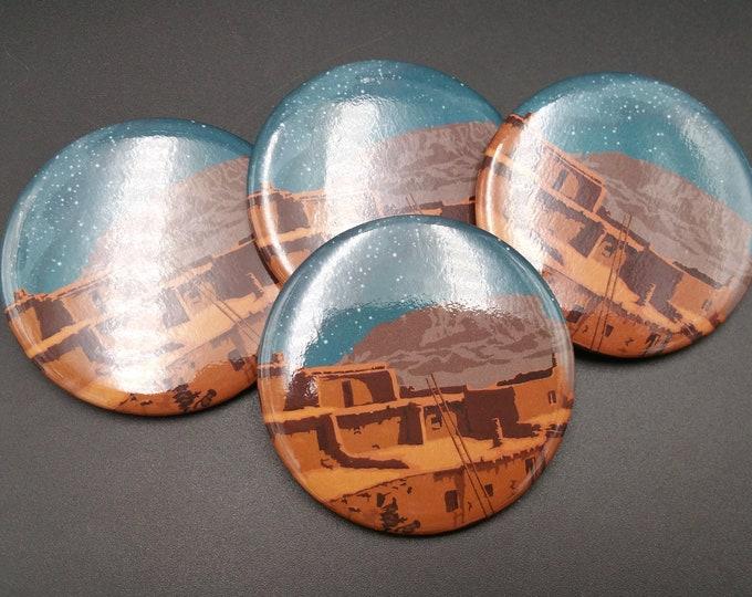 Zuni Pueblo Travel Pin Original Southwest Artwork 3x3 Durable
