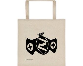 Pueblo Bat Tote Bag 100% Cotton Canvas Mimbres Pottery Ancient Design Zuni South West