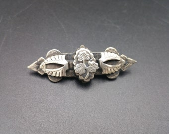 Antique Victorian Sterling Silver Brooch Hallmarked