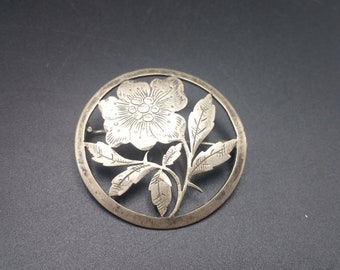 Sterling Floral Pin Bouquet Vintage Sterling Brooch Unique Gift