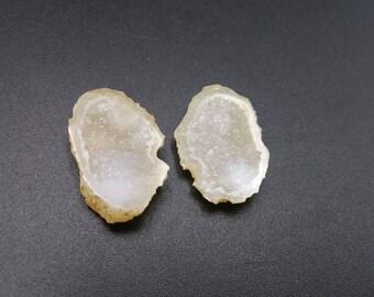 Micro Tabasco Geodes - Mini Geode Specimen Quartz Druzy-  Golden Sand