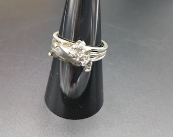Meteorite Solitaire RingSterling Silver .925 Campo Del Cielo Specimen Space Lovers Gift Size 8