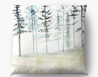 Winter Dreams, Giant Cushion, Floor Pillow, Large Floor Pillow, Floor Cushion, Decorative Floor Pillows, Forest Pillow, Meditation Cushion