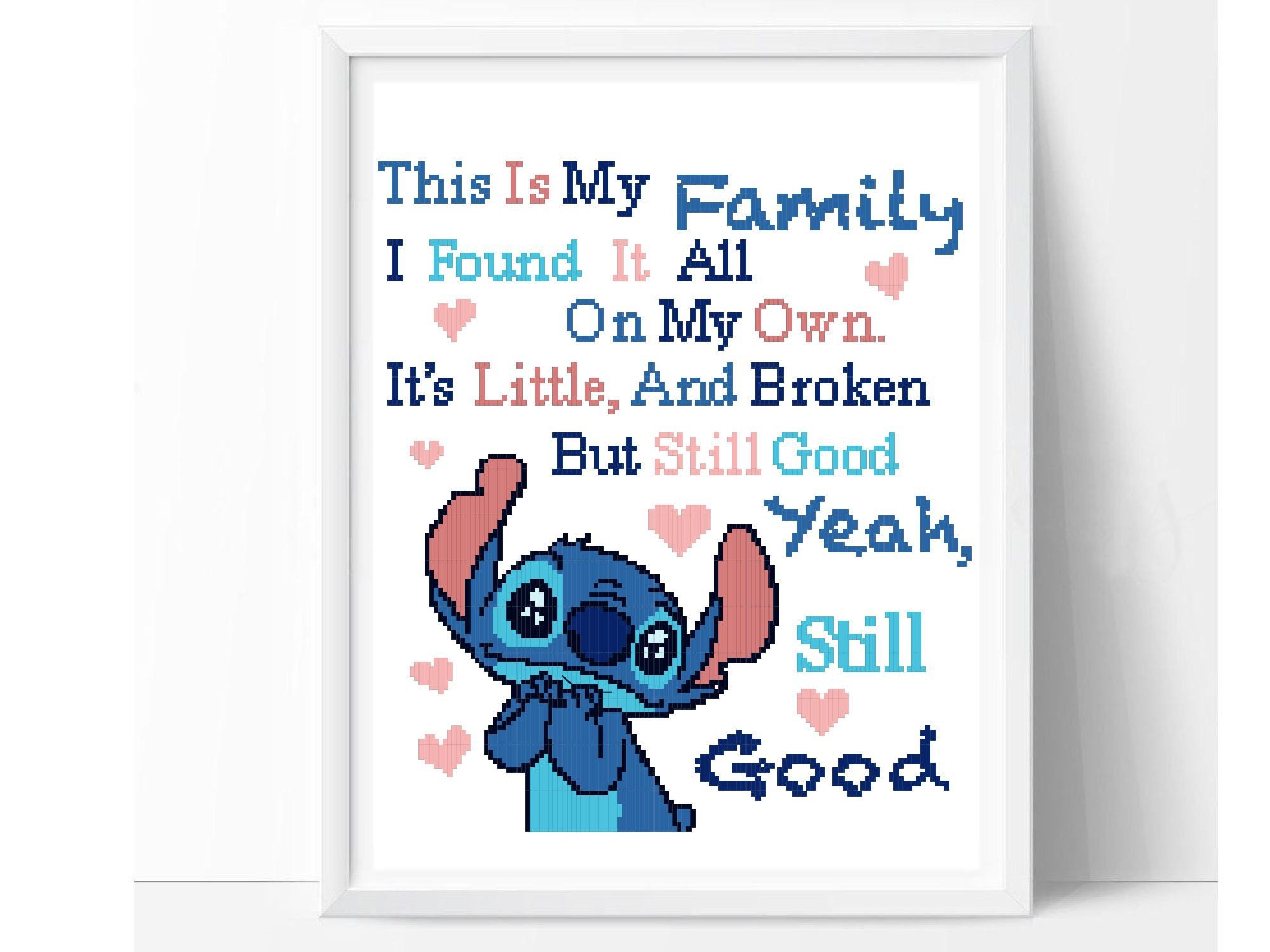 Lilo And Stitch Cross Stitch Pattern Disney Cross Stitch Etsy
