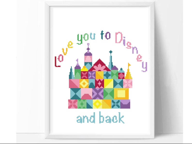bc3daa80751f Love castle modern cross stitch pattern geometric easy
