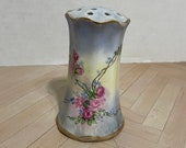 Vintage hat pin holder RS Prussia hand painted blue
