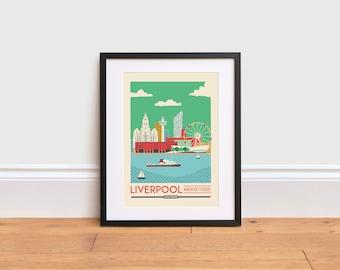 Home D\u00e9cor Liverpool Albert Dock Poster Design City Print Customisable Trip Memory Art Nautical Travel Photography Wall Art
