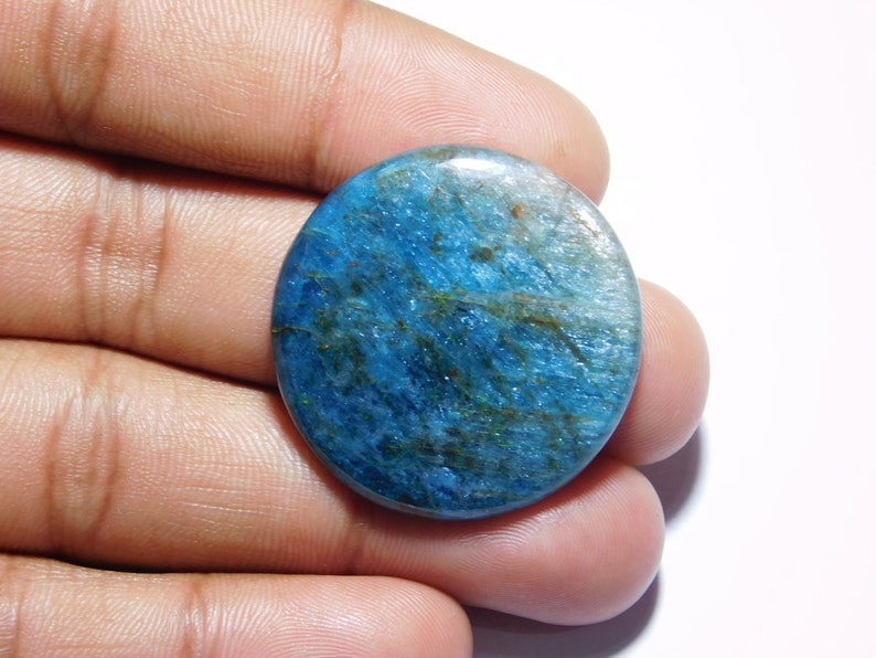 Apatite Gemstone For Pendant 59 Cts Fabulous Wholesale Price R-8273 Apatite Cabochon Gemstone Natural Blue Neon Apatite Loose gemstone