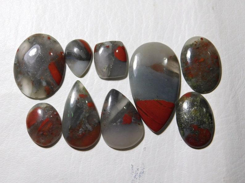 Natural Amazing Blood Stone jasper Nice Cabochon Gemstone Lot in Wholesale Price