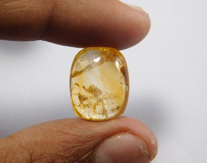 citrine quartz cabochon gemstone Wholesale Price Natural citrine quartz Loose gemstone R-7523 citrine quartz stone For Pendant 13 Cts