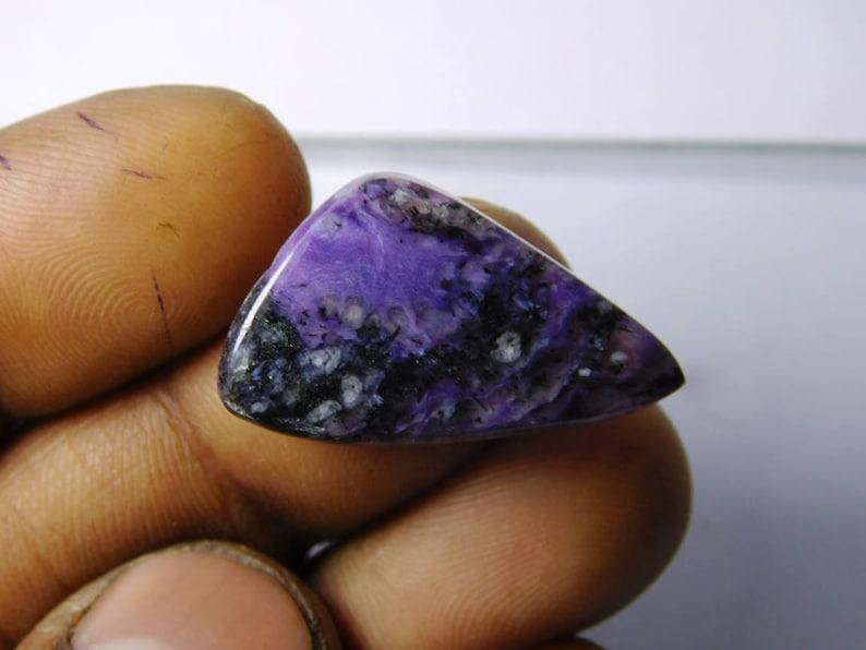 Purple Russian charoite gemstone Charoite loose stone Huge- Charoite loose gemstone R-3112 Natural charoite cabochon gemstone 13 Cts