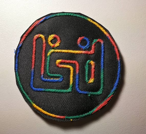 Textile patches Embroidered Thread Lsd lysergic party acid 8 cm good trip